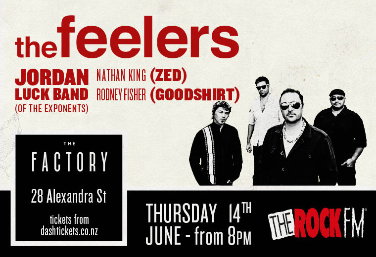 The Feelers with The Jordan Luck Band (Exponents) at The Factory